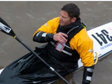 Steve Backshall after completing the DW race. © WLT.