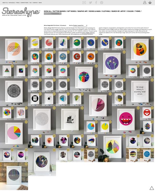 Button Badge Motif Prints