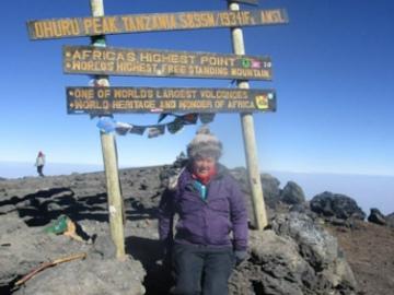 Jenna-Louise Baird at Kilimanjaro summit. © Jenna-Louise Baird.