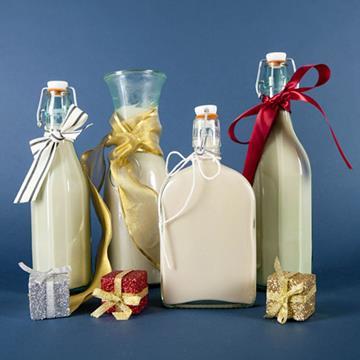 Bottles of eggnog