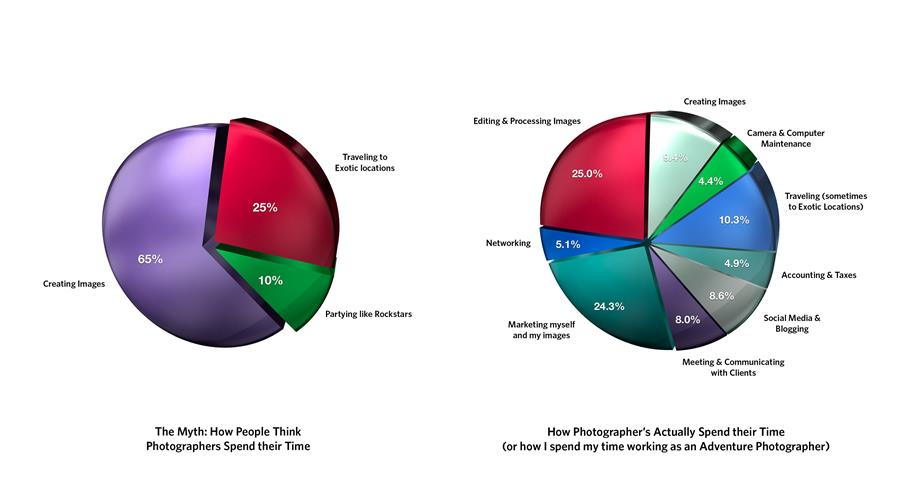 Pie chart showing reality -vs- perception