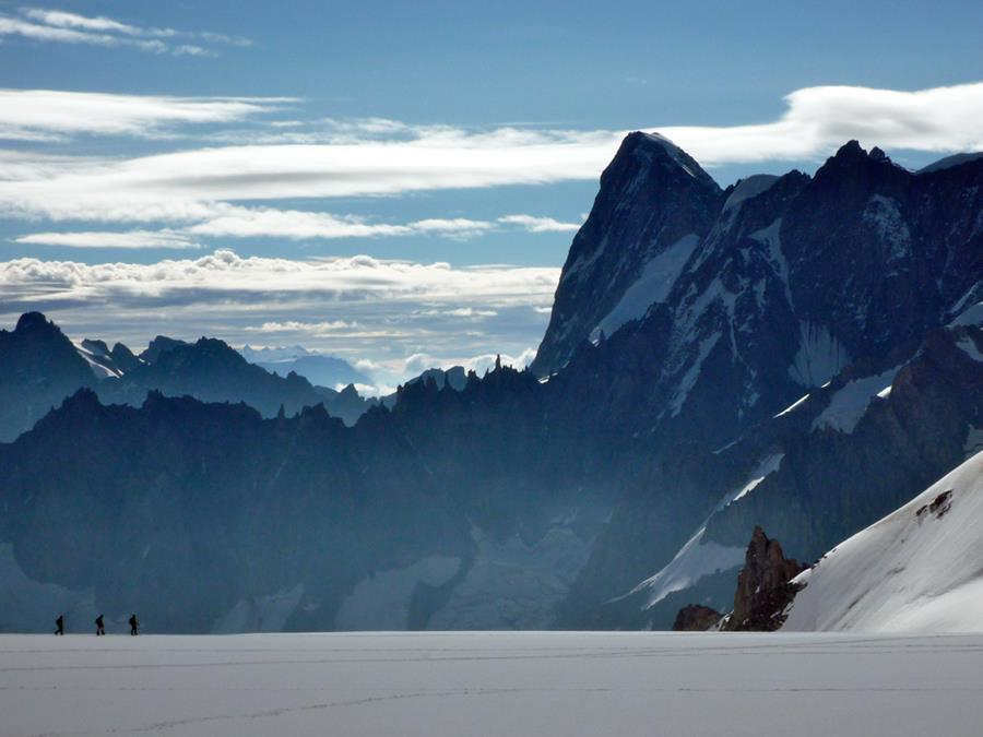 Guide Jonathan Spitzer shows of the breadth of the Alps