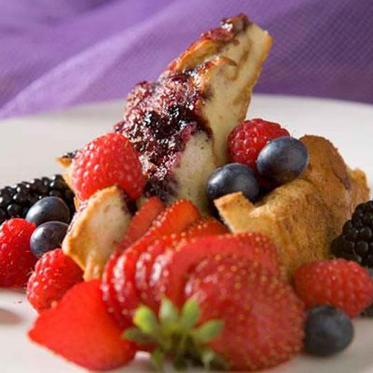 Bread Pudding and Fresh Berries