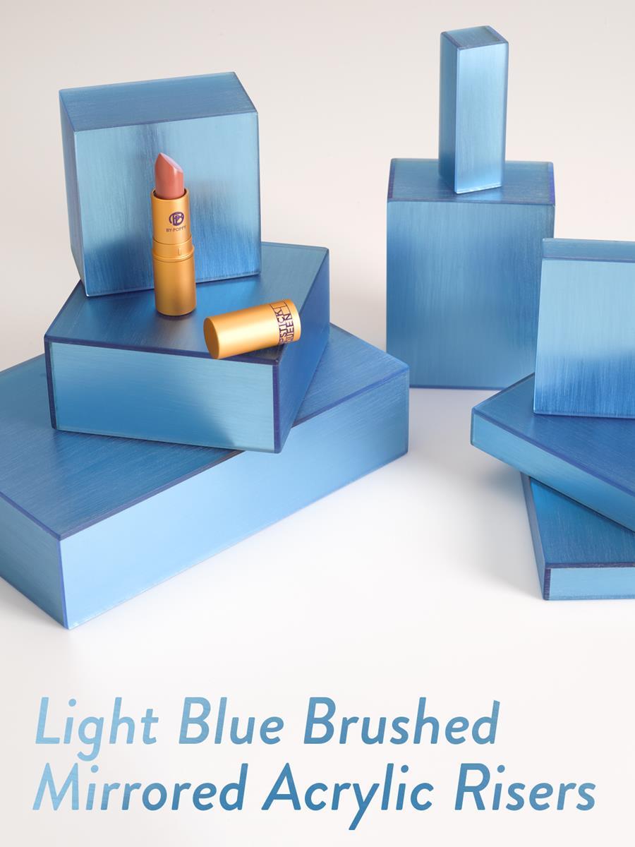 Light Blue Brushed Mirrored Acrylic