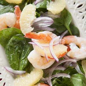 Shrimp & Grapefruit Spinach Salad