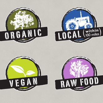 Nugget Markets organic, local, vegan and raw foods lifestyle icons