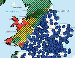 A postcode heat map and postcode point map