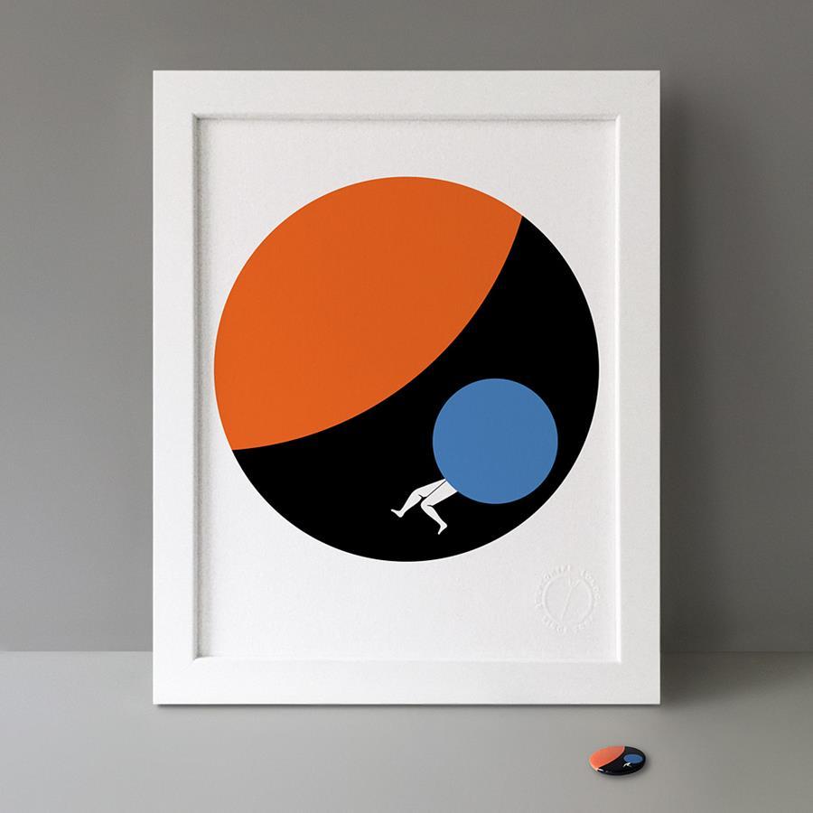 By Matt Jones from B.I.O. Series 19 / Button Badge Motif Print