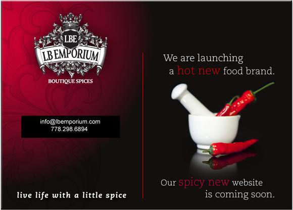 Launching a hot new food brand - web design