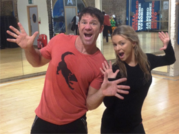 Steve Backshall and Ola Jordan during training for Strictly Come Dancing's 12th series. Image courtesy of Steve Backshall.