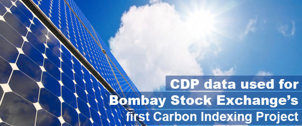 CDP data used for landmark Bombay Stock Exchange's first Carbon Indexing Project