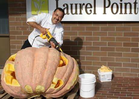 Chef Ito & the giant pumpkin