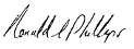 Ron Phillip's Signature