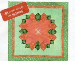 EPP Poinsettia Table Topper pattern from Lina Patchwork