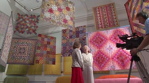 Kaffe Fasett Exhibition at the Welsh Quilt Centre Revisited