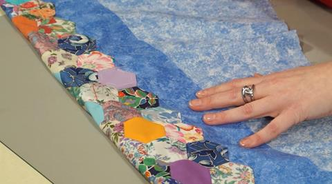Finishing your English Paper Pieced quilt with Nancy Adamek