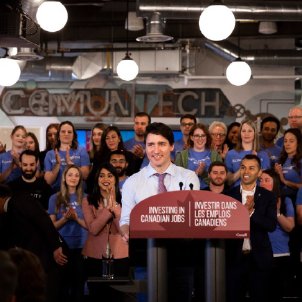 Trudeau unveils $52.4 million in new scale-up funding