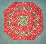 Christmas Candlemat in Red and Green