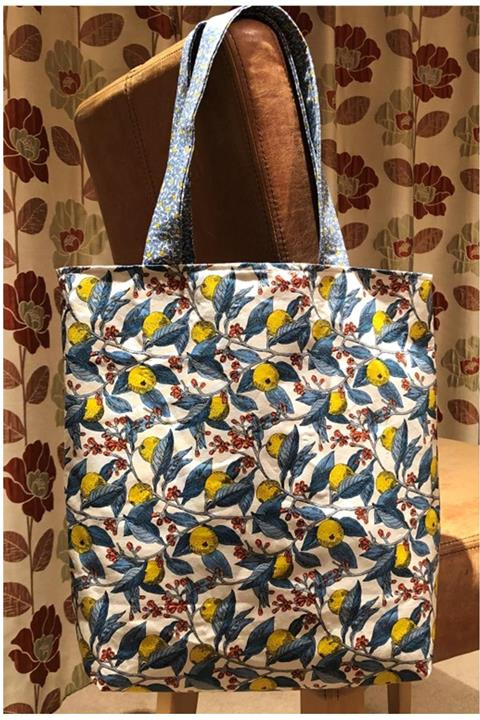Tote Bag kit in Liberty 'Lemons' fabric by Creative Quilting