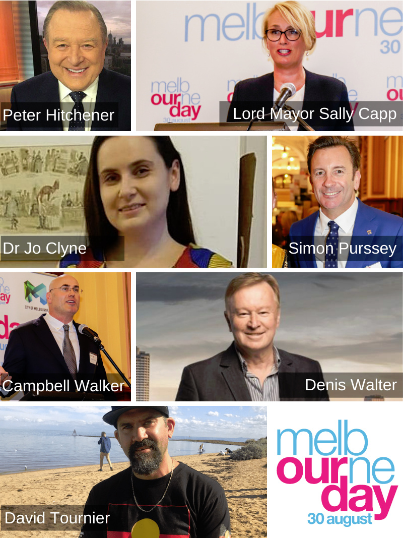 Collage showing the judging panel of the 2021 Melbourne Day Junior Lord Mayor of Melbourne Competition