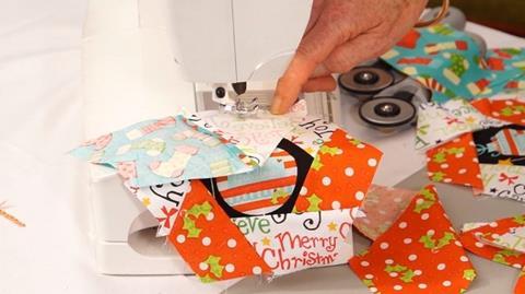 Machine stitching tip from Jennie Rayment
