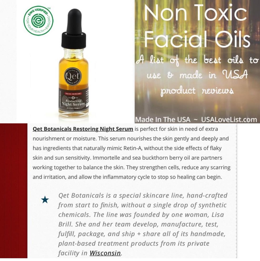Qēt Botanicals restoring night serum