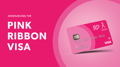 The SBS Pink Ribbon Visa Card