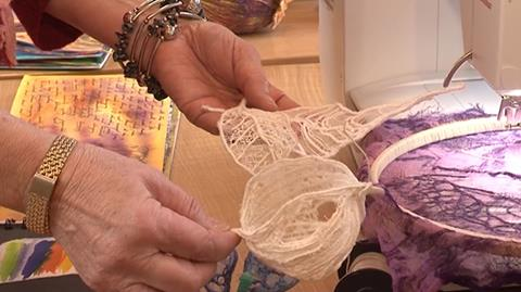 How to create textile seed heads with Pauline Verrinder