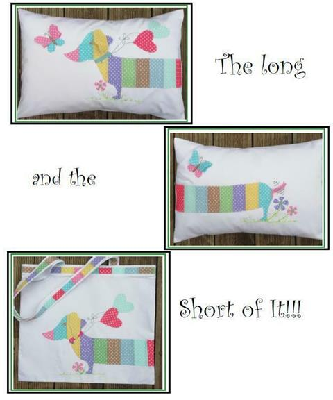 The Long and Short if It! cushion and bag pattern designed by Gail Penberthy