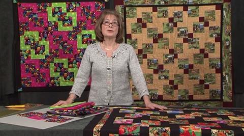 Cut 9 patch quilt with Valerie Nesbitt