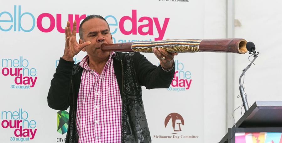 Stan Dryden at Melbourne Day