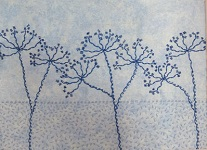 Cow parsley Kantha Kit from Angela Daymond