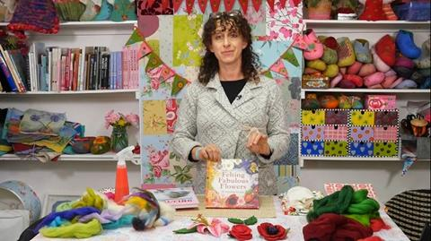 Making wet felt with Gillian Harris