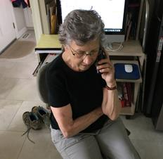 volunteer making phone call 2 of 2