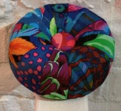 Mini Tuffet Pin Cushion kit in Blue Kaffe Fassett Fabrics