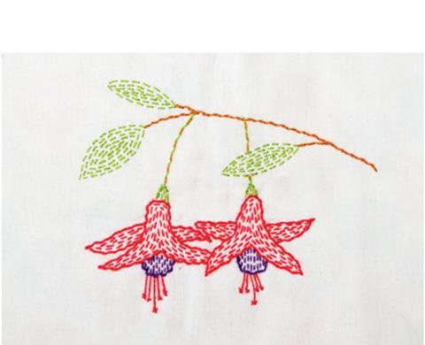 Fuschia Mini Kantha Stitching Kit from Angela Daymond