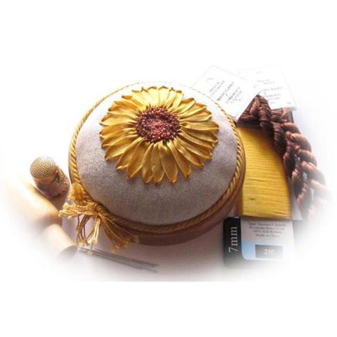 Sunny Sunflower pincushion from Lorna Bateman