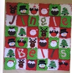 Jingle Bells raggy edge quilt pattern from Gail Penberthy
