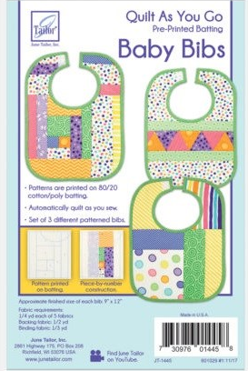 Baby Bibs - Quilt as you Go by June Tailor