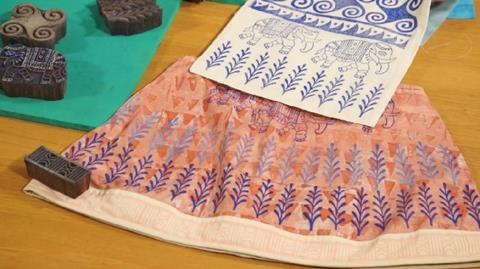 How to block print onto fabric with Jamie Malden