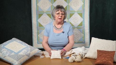 Dog Rose pincushion from Sylvia Critcher