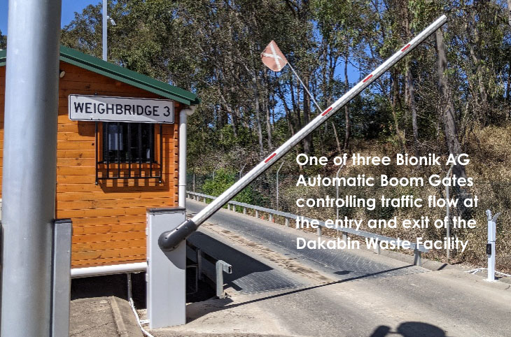 Image of Bionik AG Boom Gate in operation at Dakabin Dump