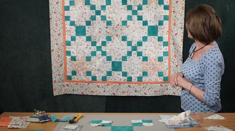 Two block quilt - 54/40 & chain with Valerie