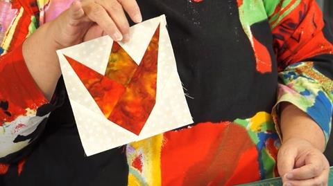 Folded Freezer Paper foundation piecing with Paula Doyle