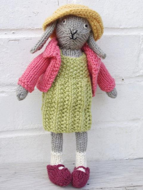 Bunny Rabbit Knitting Pattern by Fiona Goble