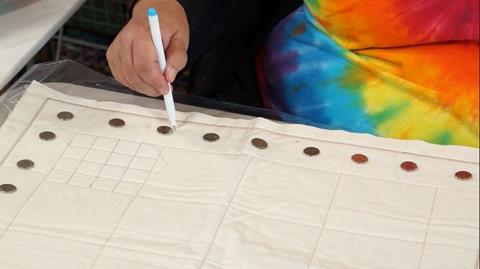 Marking the border of your quilt