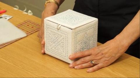 Sashiko Box with The Stitch Witch