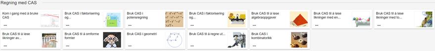 CAS-modul til slutt i læremiddelet