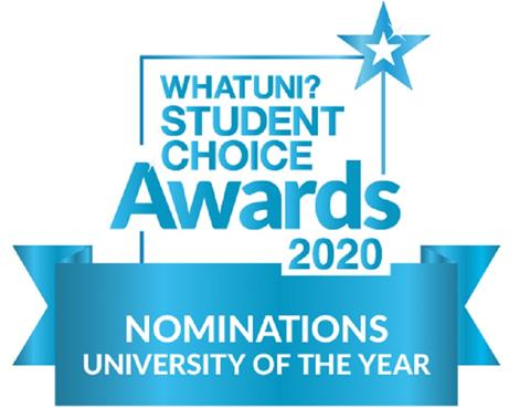WHATUNI STUDENT CHOICE AWARDS 2020