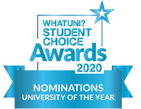 WHATUNI STUDENT CHOICE AWARDS 2020